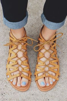 TAN LACE UP FRONT ZIP BACK STRAPPY SANDAL ARCHER-92 – UOIOnline.com: Women's Clothing Boutique