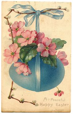 Lovely vintage Easter Card free on my blog.