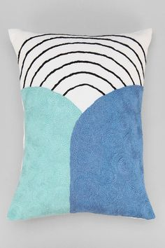 Assembly Home Embroidered Wave Pillow