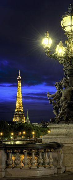 Tour Eiffel Pont Alexandre III Paris France