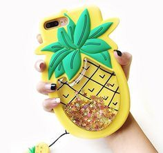 Unique iPhone 7 Plus Case, Cute Creative Soft Feeling Silicone Phone Case Cover for Apple iPhone 7 Plus Liquid Pineapple. Compatible Model: Apple iPhone 7 Plus. This phone case is adorable and very durable will fits your phone perfectly. Cute Cases, Cute Phone Cases, Apple Iphone 6, Iphone 8 Plus, Iphone7 Case, Cool Gifts For Teens, 3d Iphone Cases, Accessoires Iphone, Coque Iphone 6