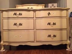 French provincial dresser (mirror not pictured)...it needs a little love