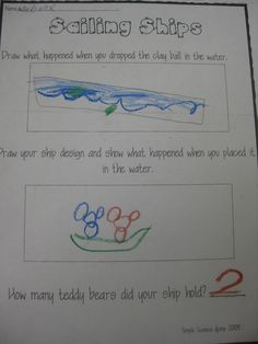 Columbus Day Sink or Float activity
