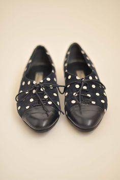 Navy Polka Dot Shoe.