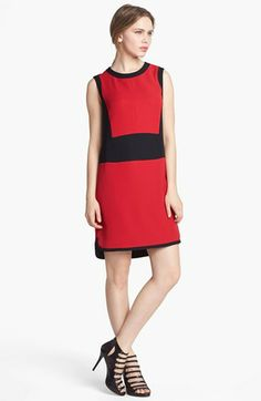 Vince Camuto Colorblock Shift Dress available at #Nordstrom