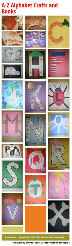 Collage Details - A-Z Alphabet Crafts and Books