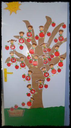 Φέτος το παρουσιολόγιο μας έχει θέμα την μηλιά!!!   Μια μηλιά που στολίζει την εξώπορτα μας και που σε αυτήν κάθε πρωί τα παιδιά προσθέτου...
