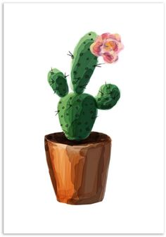 Mode Prints Watercolour Cactus Art Print art Watercolour Cactus Art Print by Mode Prints Cactus Drawing, Cactus Painting, Plant Painting, Watercolor Cactus, Cactus Art, Cactus Flower, Watercolor Paintings, Watercolor Food, Cactus Decor