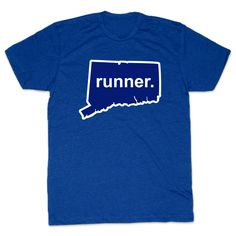 Mens Lifestyle Runners Tee Connecticut State Runner | Running Mens Cotton Tshirts