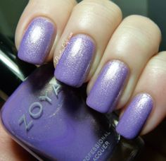 Zoya Hudson - cool-toned lilac/purple metallic with purple and silver shimmer. | Pointless Cafe