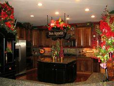 Decoration, Traditional Kitchen Christmas Decorating Ideas: Prestigious Christmas Kitchen Mantel Decorating Ideas [local]