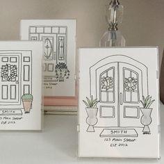 Front Door Drawing black & white custom door drawing 5x7doorbeforedrawings | shut