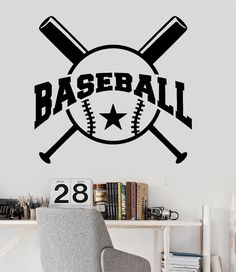 Wall Decal Hockey Player Sport Fans Sport Boys Room Vinyl Stickers - Vinyl vinyl wall decals baseball