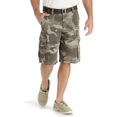 Lee Wyoming Camo Cargo Shorts minus the shoes