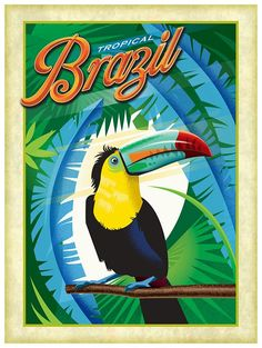 Brazilian Travel Posters on Behance