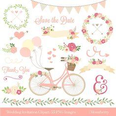 Guirnalda Floral invitación de la boda boda invitación