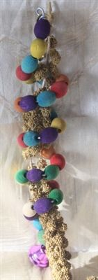Round the Twist - Millet Chew Toy Little Birds, Sprays, Flocking, Environment, Colours, Treats, Toys, Fit, Handmade