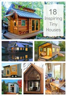 18 Inspiring Tiny Houses...oh my goodness I think I need one of these!!! :) #tinyhouse