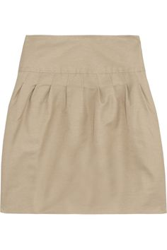 Valentino Cotton and silk-blend twill skirt - 70% Off Now at THE OUTNET