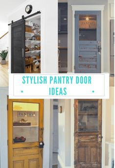 New Unique Pantry Door Ideas Kitchen Cabinets Ideas New Unique Pantry Door Ideas Kitchen Cabinets Ideas Kitchen Door Chalkboard Pantry Doors, Rustic Pantry Door, Sliding Pantry Doors, Kitchen Pantry Cabinets, Pantry Door Storage, Built In Pantry, Small Pantry, Pantry Organization, Frosted Glass Pantry Door