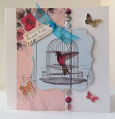 Card designed by Julie Hickey using Paradise collection. Craftwork Cards, Bird Art, Venetian, Card Ideas, Paradise, Projects To Try, Arts And Crafts, Friday, Birds