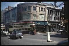 A trolley bus in Cardiff, is that St Mary's Street?