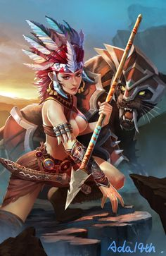 Smite - Awilix (Wild Rose Skin) by Chen Xiao                              …
