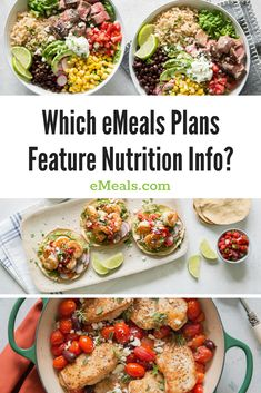 Which eMeals Plans Include Nutrition Numbers? | eMeals.com