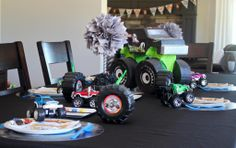 This monster truck pinata can act as decoration until the kids are ready to play! #BirthdayExpress #CraftThatParty