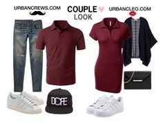 """""""URBANCLEO Couple Look With Polo Shirt"""" by urbancleo ❤ liked on Polyvore featuring Tory Burch, rag & bone, adidas Originals, MICHAEL Michael Kors and Manic Panic"""