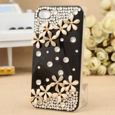 Lucky clover Rhinestone cases for iphone4/4s