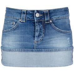 DONDUP denim skirt ($175) ❤ liked on Polyvore featuring skirts, bottoms, saias, gonne, denim skirt, blue skirt, dondup and blue denim skirt