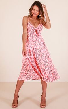 Life Goes On dress in red floral
