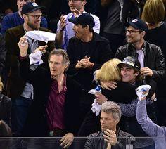 Natasha Richardson, Christian Slater, Liam Neeson, Madison Square Garden, Jon Bon Jovi, Cool Bands, Actors & Actresses, Beautiful Men, Cool Pictures