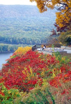 autumn along the Mississippi River, Pikes Peak State Park, Iowa.