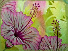 'Mir'acle Art Inspirations: using Designs by Ryn: Hibiscus
