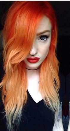 I'm seriously considering doing this, goodbye ginger hello orange x