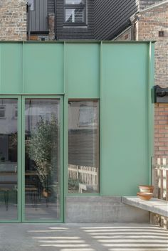 Metal Cladding, Metal Facade, Cladding Systems, Roof Extension, Extension Ideas, Concrete Bench, London Property, Timber Structure, Inspiration Design