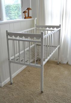 Vintage Baby Crib - cute for blanket & quilt storage or stuffed animals