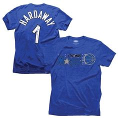 b4e842eeedb Majestic Penny Hardaway Orlando Magic Hardwood Classics Name   Number  Tri-Blend T-shirt - Royal Blue