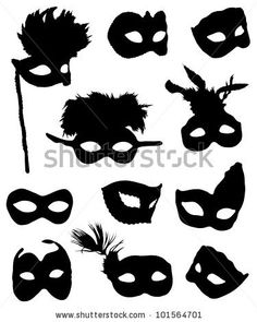 stock vector : Collection of carnival masks