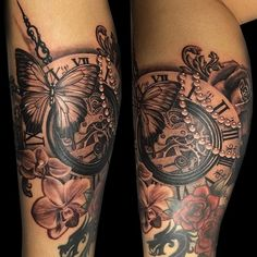 Sins and Needles steampunk Tattoo Design