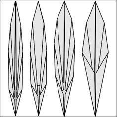 Origami Leaves, Diagram, Flowers