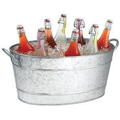 Drinks Pail Galvanised Steel Drinks Party Tubbar@drinkstuff Drinks Tub