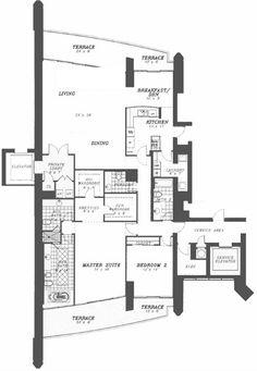 Porsche Tower   Miami    unit floor plan