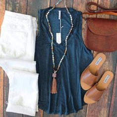 This look..... ALL DAY! EVERYDAY! London Crop Flare-White-$68 The Vagabond-$30 Sigmond Satchel-$56 Sarita Bead Necklace-$39 Grace Sandals-$48 www.southerntrends4u.com