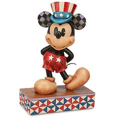 ''We Salute You'' Mickey Mouse Figurine by Jim Shore