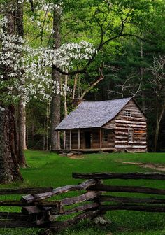 Log Cabin in The Woods Cozy Cabin, Cozy Cottage, How To Build A Log Cabin, Cabin In The Woods, Log Cabin Homes, Log Cabins, Little Cabin, Cabins And Cottages, Plein Air
