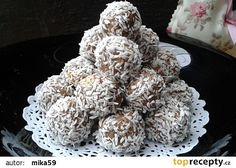 Margot kuličky recept - TopRecepty.cz Cravings, Food And Drink, Cooking Recipes, Herbs, Cookies, Vegetables, Cake, Sweet, Christmas Ideas