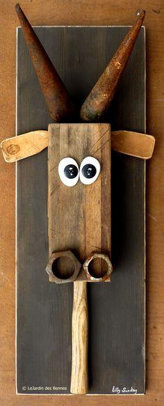 Avec cette vache-là, tu auras du pain sur la planche ! / By Lilly Sunday.